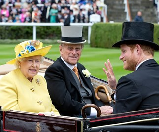 The Queen, Prince Harry and Prince Philip