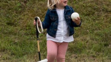 Mia Tindall gets up to mischief at the polo