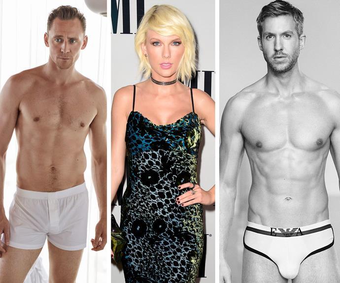 Taylor Swift, Tom Hiddleston, Calvin Harris