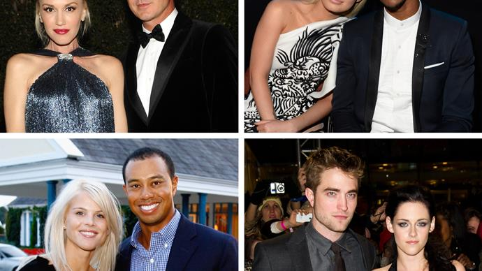 Gwen Stefani and Gavin Rossdale, Iggy Azalea and Nick Young, Elin Nordegren and Tiger Woods, Robert Pattinson and Kristen Stewart