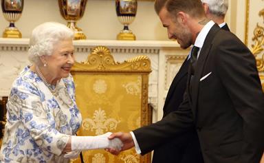 David Beckham meets Queen Elizabeth as part of Young Leaders of 2016