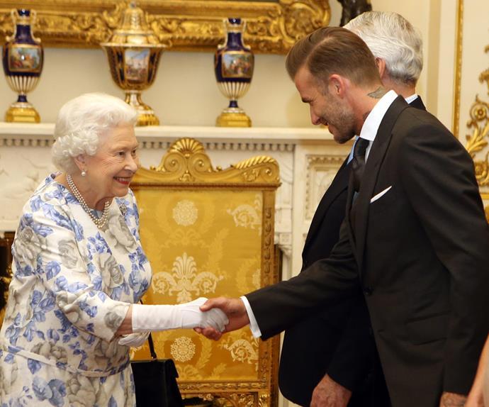 Queen Elizabeth David Beckham