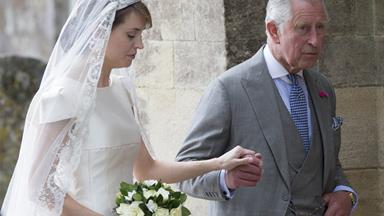 Prince Charles gave away his friend's daughter at a lavish wedding ceremony