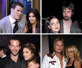 Kim Kardashian and Kris Humphries, Drew Barrymore and Tom Green, Bradley Cooper and Jennifer Esposito, Kid Rock and Pamela Anderson