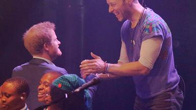 Prince Harry and Coldplay rock the palace!