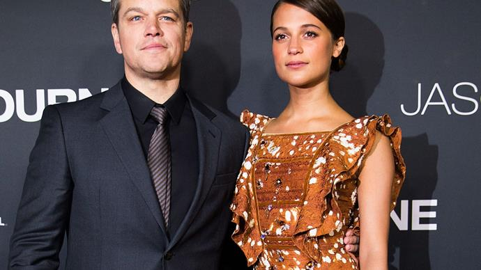Matt Damon Alicia Vikander