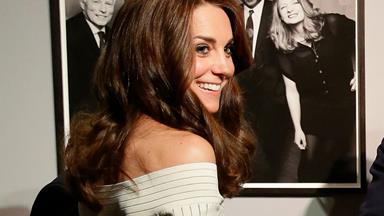 Duchess Catherine stuns in off-the-shoulder dress