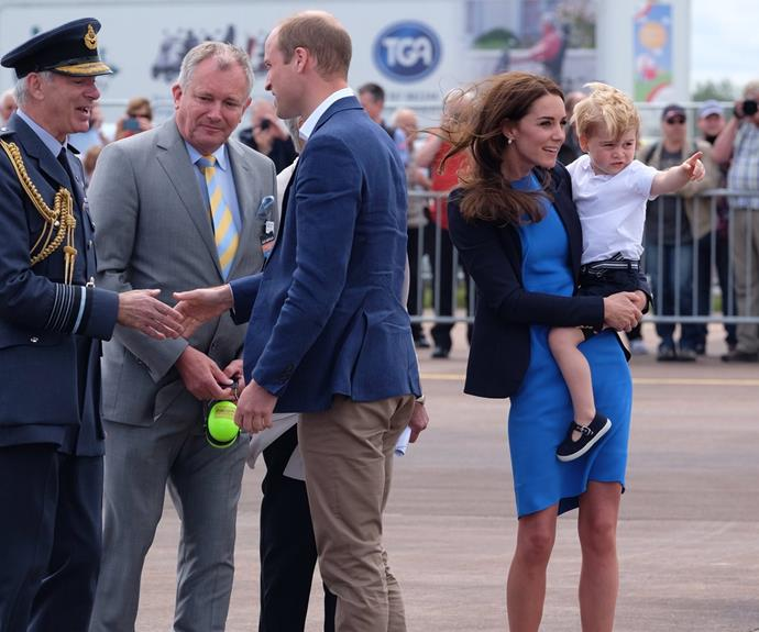 "Who can forget when George took over the [Royal International Air Tattoo.](http://www.womansday.com.au/royals/british-royal-family/prince-george-goes-to-royal-international-air-tattoo-15886|target=""_blank"")"