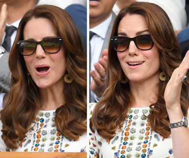 Duchess Catherine can't contain her excitement at Wimbledon Final