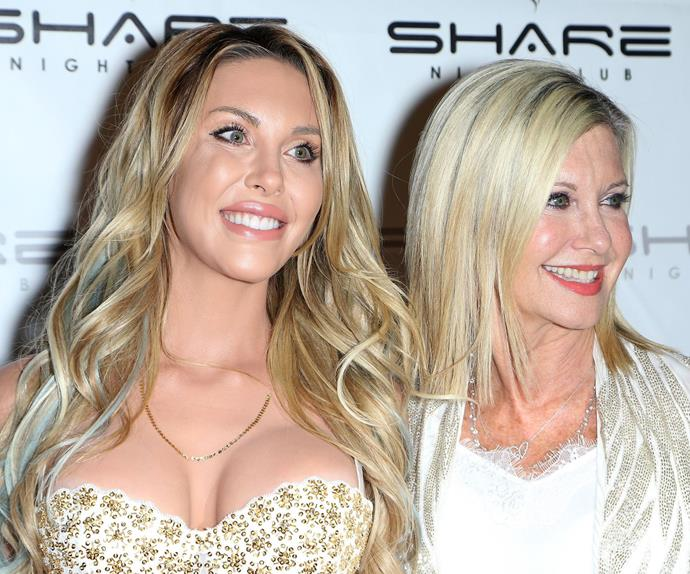 Chloe Lattanzi and Olivia Newton-John