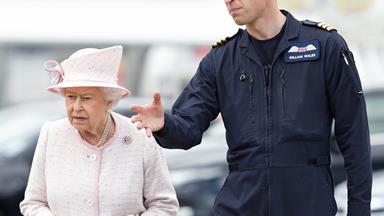 Hello Granny! Queen Elizabeth visits Prince William at work