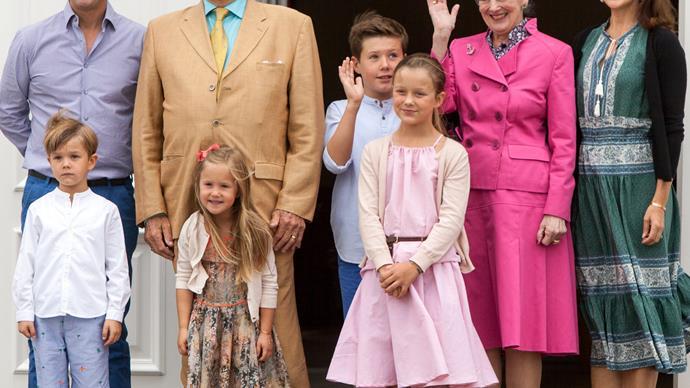 Princess Josephine Prince Frederik, Prince Vincent Princess Mary Princess Isabella Prince Christian Queen Margrethe