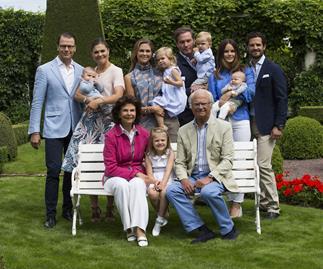The Swedish Royal Family portrait