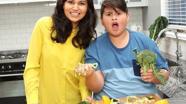 Watch: Nadia Lim and Julian Dennison's foodie fun