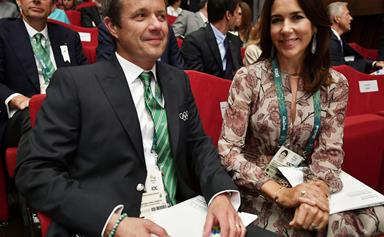 Princess Mary, Prince Frederik, and Prince Albert touch down in Rio