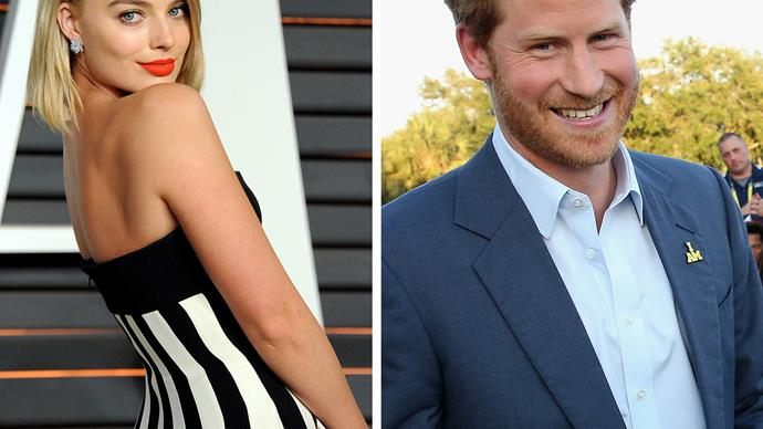 Margot Robbie and Prince Harry