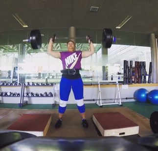 Valerie Adams' training regime