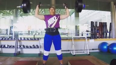 Valerie Adams' Olympics workout totally kills it