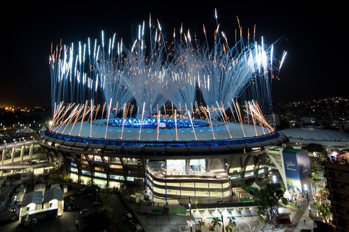 Rio Olympics 2016 opening ceremony fireworks display