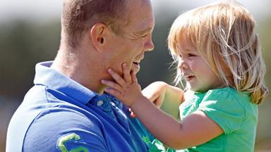 Adorable Mia Tindall's day out with dad Mike Tindall
