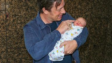 Jamie Oliver introduces his new son to the great outdoors
