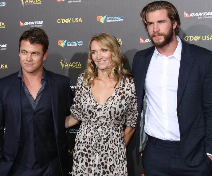 Luke, Liam and Samantha Hemsworth