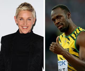 Ellen Degeneres Usain Bolt
