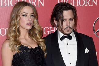 Amber Heard, with former husband, actor Johnny Depp