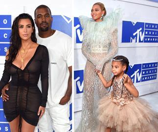 Kim Kardashian, Kanye West, Beyonce Knowles and Blue Ivy