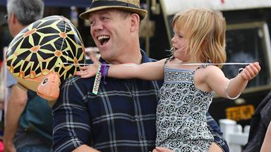 Royal cutie Mia Tindall enjoys a fun-filled family day out