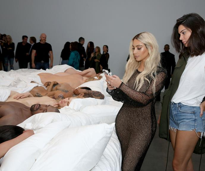 Kanye West shows naked celebrity wax figures in exhibit