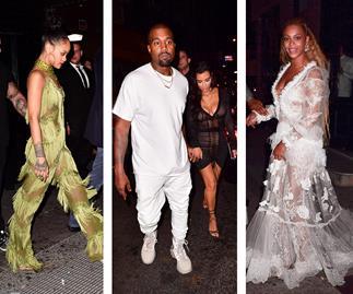 Rihanna, Beyonce, Kim Kardashian, Kanye West