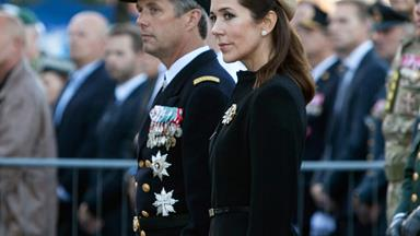 Princess Mary and Prince Frederik honour soldiers at Flag Day Parade