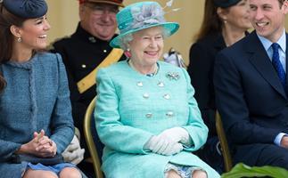 Queen Elizabeth, Duchess Catherine, Prince William
