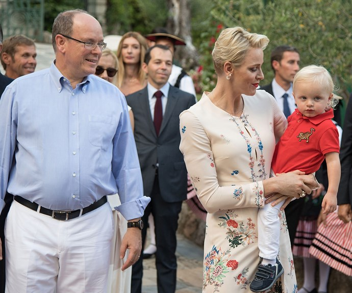 Princess Charlene of Monaco, Prince Jacques of Monaco and Prince Albert of Monaco