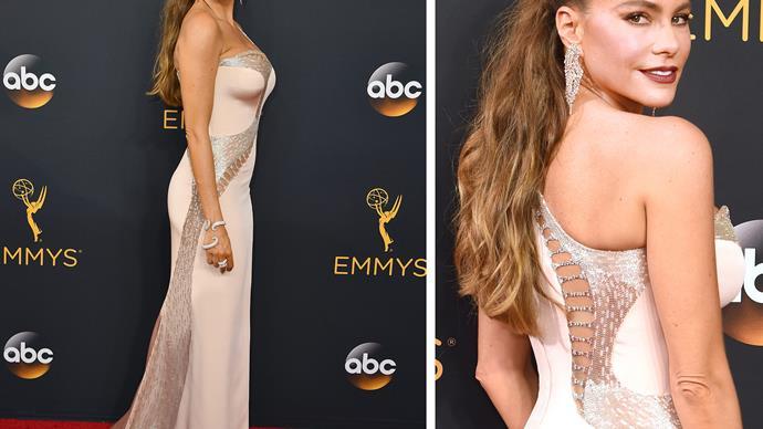 Sofia Vergara at the 2016 Emmy Awards