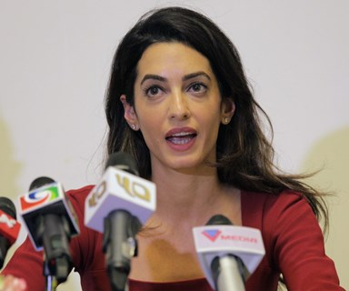 Amal Clooney breaks down talking about taking on ISIS in her new case
