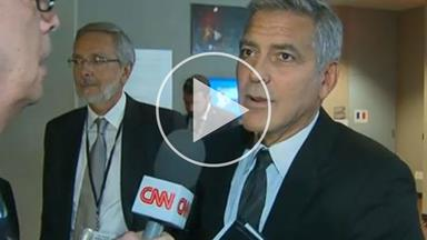 """Watch George Clooney's reaction to the Brangelina split: """"I feel very sorry"""""""