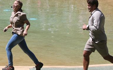 Bindi Irwin shows Chandler Powell the ropes at Australia Zoo