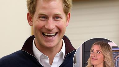 Watch Ellie Goulding awkwardly dodge Prince Harry questions