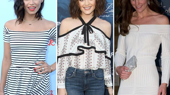 Celeb off-the-shoulder looks we love