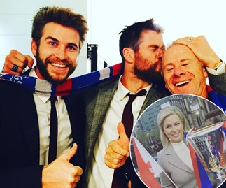 Samantha Armytage, Chris Hemsworth, Liam Hemsworth
