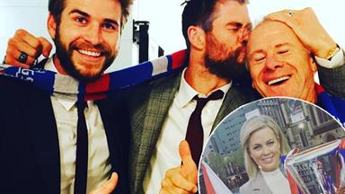 Samantha Armytage's wild night out with Chris and Liam Hemsworth