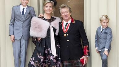 Prince Williams knights Sir Rod Stewart at Buckingham Palace