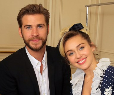 Liam Hesmworth and Miley Cyrus celebrate Christmas together