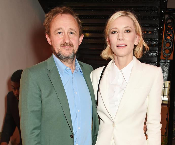 Cate is pictured with her husband, Andrew Upton. The pair wed in 1997.