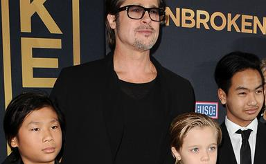 It was a Jolie good Father's Day for Brad Pitt