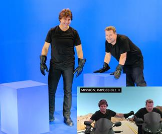 Tom Cruise and James Corden Mission Impossible montage - hilarious!