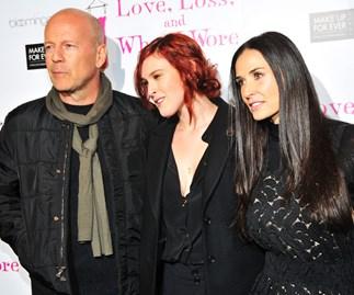 Bruce Willis, Rumer Willis and Demi Moore
