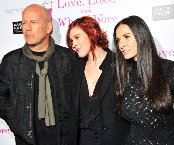 Bruce Willis, Rumer Willis and Demi Moore